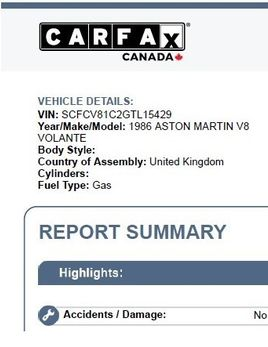 CARFAX Canada Vehicle History Report April 21 2020